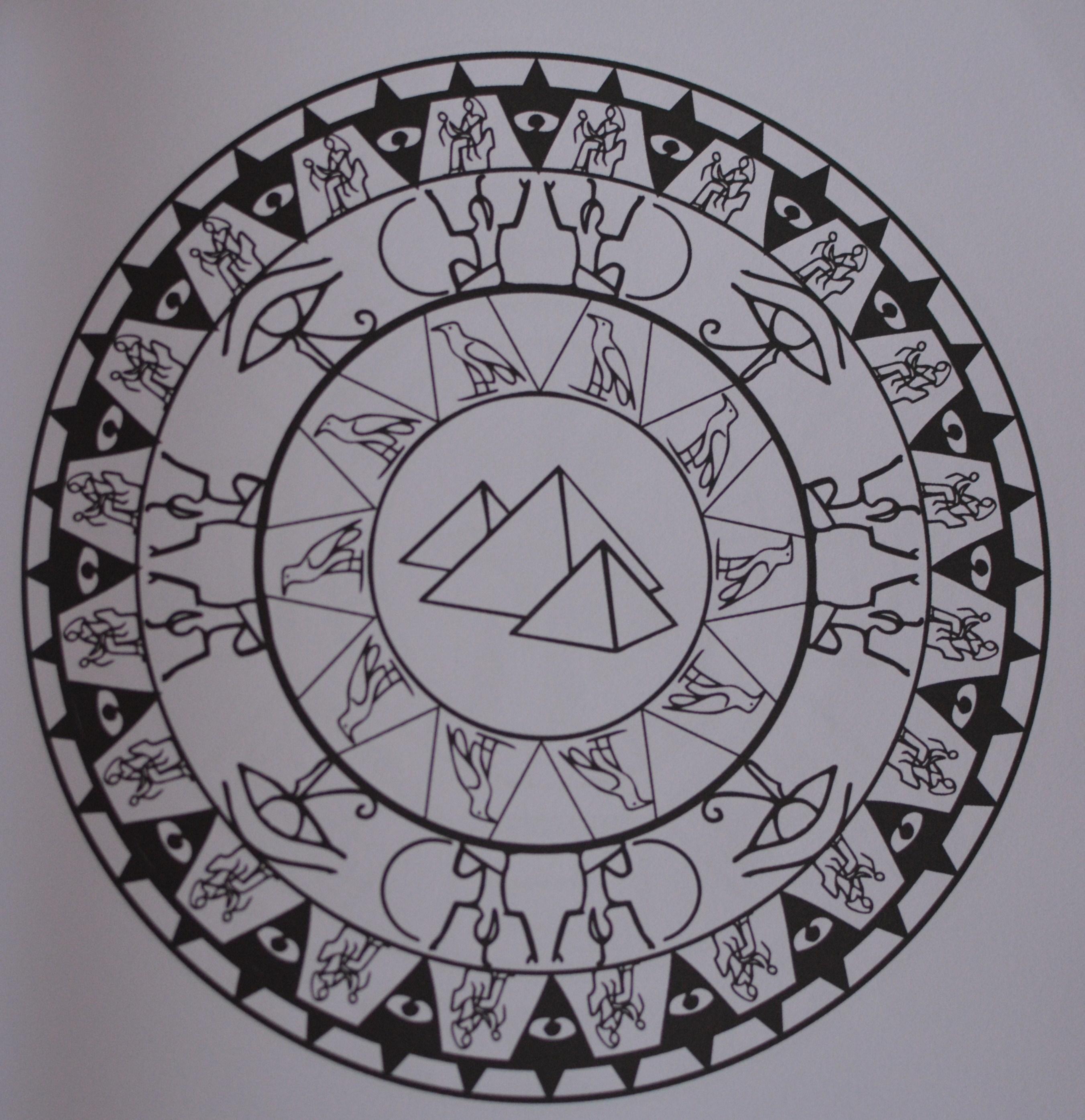Coloriage pour adultes mandalas egypte light smell - Mandala pour adultes ...