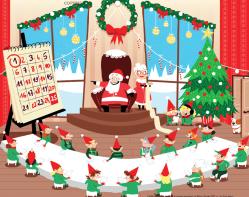 Le compte à rebours du Père Noël illustration