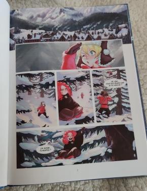 Illustration Les aventures d'Alduin et Léna - tome 1 : Les guerriers de glace, d'après le roman d'Estelle Feye